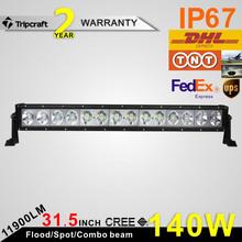 30000 hour work life 140w offroad led light bar, 31 inch offroad led light bar, high bright 11900 lumen offroad led light bar