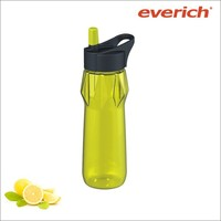 16oz BPA free sports water bottle with straw lid