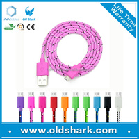 Mixcolor 10FT 1M,2M,3M USB Charger Cable Fabric Nylon Braided Nylon Usb Cable Cord for iPhone 5 5C 5S iOS9