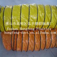 HVAC system pvc flexible ducting / plastic round pvc tube ducting