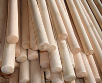 Wholesale hardwood polish round wooden poles zhejiang,wooden stick.bamboo pole