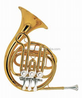 Popular Mini instrumentos musicais French Horn / toy french horn