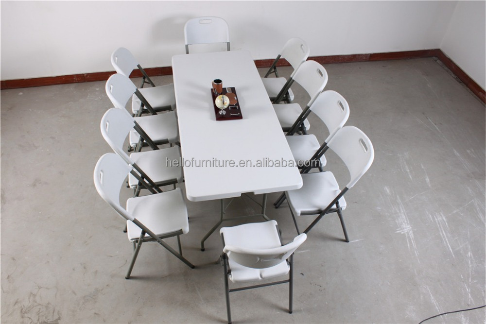 6 39 ivory dining plastic folding table made in china buy - Plastic folding dining table ...