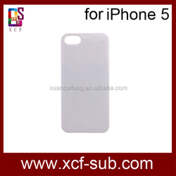 China supplier DIY 3D sublimation polymer phone case for iphone