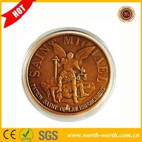 Wholesale Phoenix Police 40*3mm Challenge Brass Coin, American Medal Souvenir Coin For Promotion Gifts