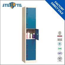 School furniture metal clothes locker/vertical slim metal locker cabinet