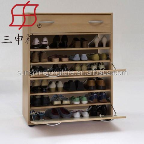 Pas cher e1 mdf bois ferm chaussures organisateur - Organizador zapatos ikea ...
