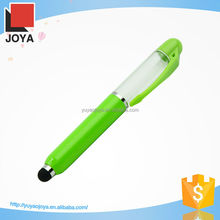 3 in 1 metal led light ball pen with capacitive stylus