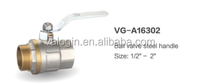 Chromed plated quick open brass forged angle valve with steel handle (VG-A16302)