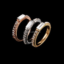 Rose Gold,Platinum Plating,Gold Plating Eternity Band Rings mounted with AAA Zircon