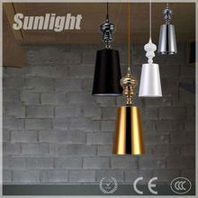Hot Sell Decorative Vintage Industrial Chandelier/Pendant Light/Droplight Champion Metal With Fabric Hanging Pendant Lighting