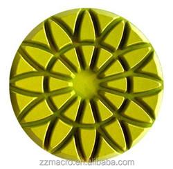 granite floor polishing 4inch/100mm Sunflower Grain Floor Diamond Polishing Pad