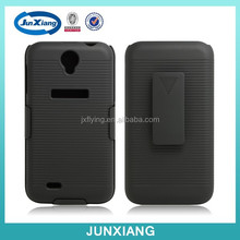 Black Holster Case with Belt Clip for Lenovo A850, Plastic Belt Clip Holster Combo Cell Phone Case for Lenovo A850