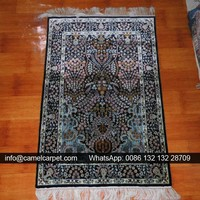 chinese tabriz hand knotted silk carpet or rug