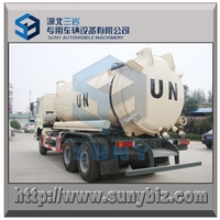5300 gallon sewage dirty water suction tanker HOWO 6X6 vacuum tank truck