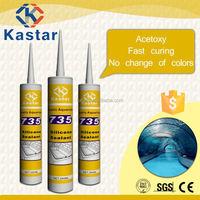 Acetic waterproof light grey silicone sealant mildew resistance