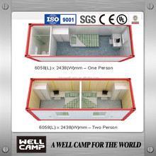 Namibia Government Project Modular Flexible Solar Prefab Container Home For Solder Dormitory Labpur Camp