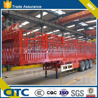 size & platform optional fence semi trailer/stake semi trailer agricultural machine for animals transporting