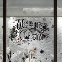2015 factory price pvc waterproof decorative christmas stickers free