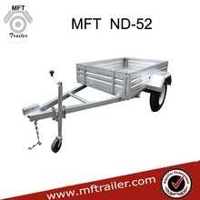 2015 New 7x4 Galvanized Box Type Trailer With Cage