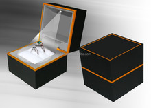 plastic square box led jewelry ring boxes/led light box EXW price for holidays