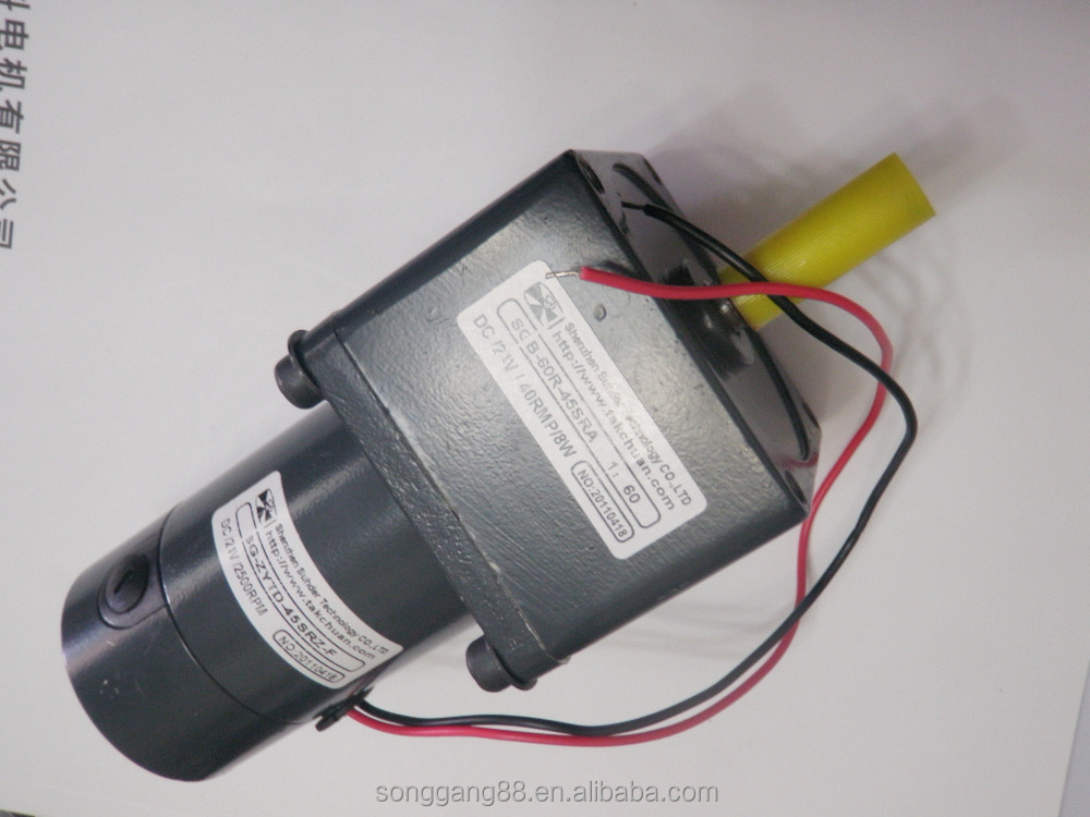 Electric Outboard Motor Dc Gear Motor Permanent Magnet Dc
