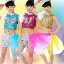Kinder tanzen kleid großhandel pailletten Hip-Hop Jazz Tanzperformance kleidung