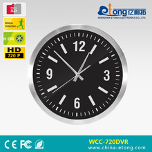 4200 Mah battery operated wireless security camera wall clock with motion sensor and photo taking