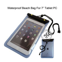 2 Zipper Nice PVC Pochette Telephone Impermeable Waterproof Beach Swimming Mobile Case For Ipad Mini P5918-210