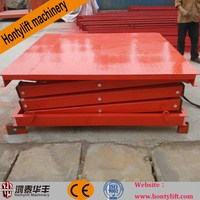 China supplier offers CE stationary platform cargo scissor lift 10 tons used auto lifts