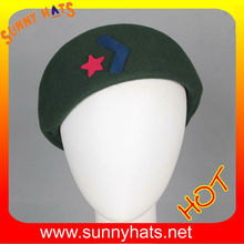 China style wool felt ascot hat with red star for wholesale 2013 factory made