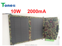 10W folding panel portable mobile solar charger