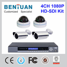 New Kit!! 4pcs 2.0 Megapixel 1080P HD SDI Camera + 1pc 4 Channels HD SDI DVR CCTV Surveillance Security Equipment System