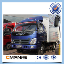 China foton factory RHD 4X2 forland cargo van 3ton load capacity hot sale