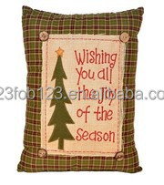 Made in china christmas sublimated appliqued embroidered pillows cushion