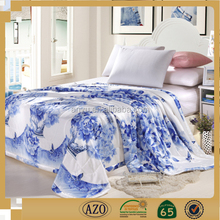 Blue and white porcelain color flower design used adult bed sheet import from china