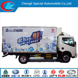 High quality box refrigerate truck meat transportation truck minus 18 degree refrigerated truck