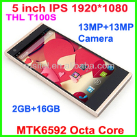 2014 NEW THL T100S Octa Core 13MP Camera Android mobile Phone 5 inch Full HD Screen 1920*1080 2GB+16GB