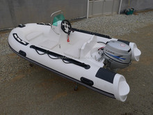 3.5M semi-rigid fiberglass boat,CE Cert. Boat RIB360C with Side Console for sale