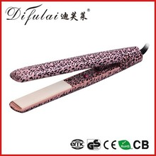 Leopard Zebra Patterned Hair Straightener Ionic Ceramic Hair Flat Iron with Gift Box
