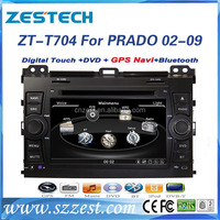 7 inch car gps navigator for Toyota 2006 prado car gps navigation obd ii gps gprs gsm car tracker with GPS DVD USB/SD AM/FM