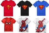 Popular style 2015 spring/summer korean style boys cartoon short sleeve T-shirt children clothes