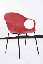 Newstyle High quality Mordern design Cheap plastic outdoor chair with matel legs dining chair