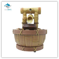 Polyresin water fountain with LED light