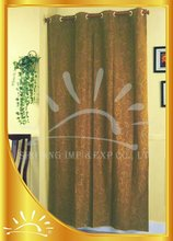 100% Polyester embossed suede window curtain