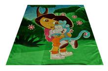 monkey printed plush polar fleece baby blankets wholesale