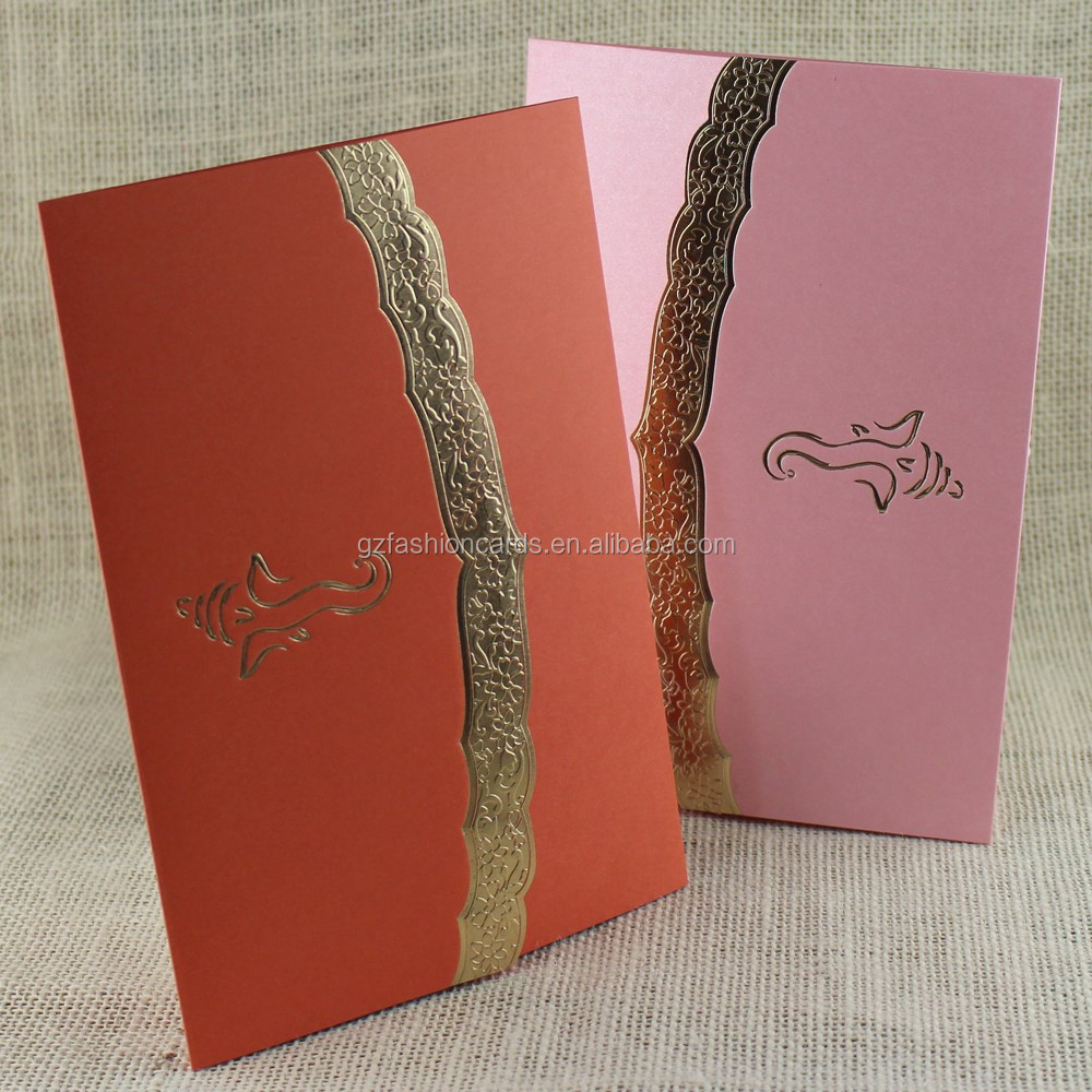 Simple Design Factory Direct Sale Cheap Hindu Wedding Cards ...