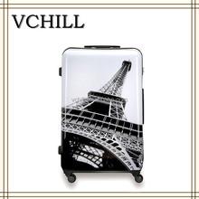 Eiffel Tower Printed Hard Decent Travel Luggage