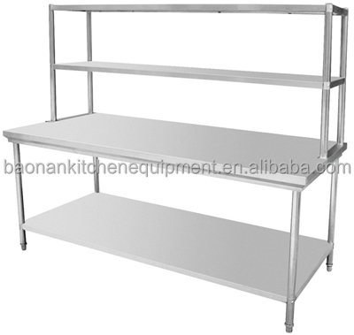 Stainless Steel Prep Station Table Commercial Kitchen