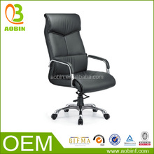 acrylic lucite pu swivel office chair with footrest